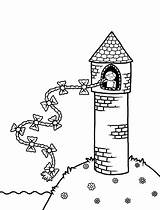 Coloring Pages Rapunzel Tower Drawing Fairy Tales Trophy 1st Place Colour Colouring Drawings Activities Template Paintingvalley Sketch Activity Fun Books sketch template