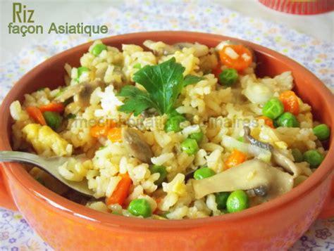 recette de cuisine vegetarienne riz façon asiatique facile recette vegetarienne le