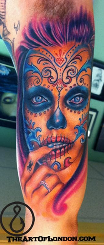 gallery funny game day   dead gypsy skull tattoo