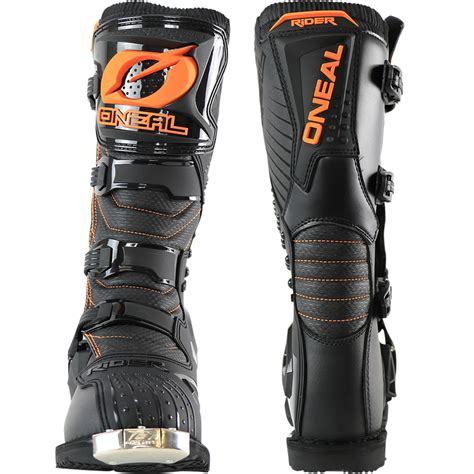 cheap motocross boots oneal new 2017 mx rider boot dirt bike black orange