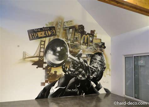 fresque murale new york et louis armstrong