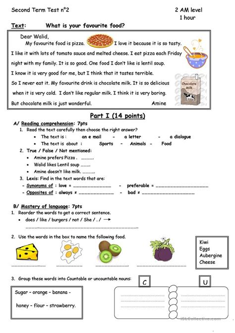 What Is Your Favourite Food? Worksheet  Free Esl Printable Worksheets Made By Teachers