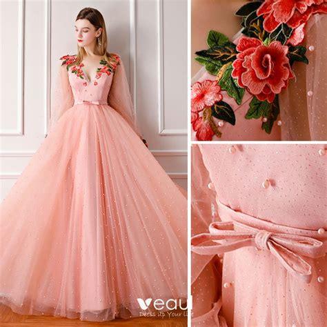 Modern / Fashion Pearl Pink Prom Dresses 2019 A-Line ...