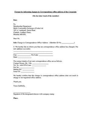 office address change letter format edit print