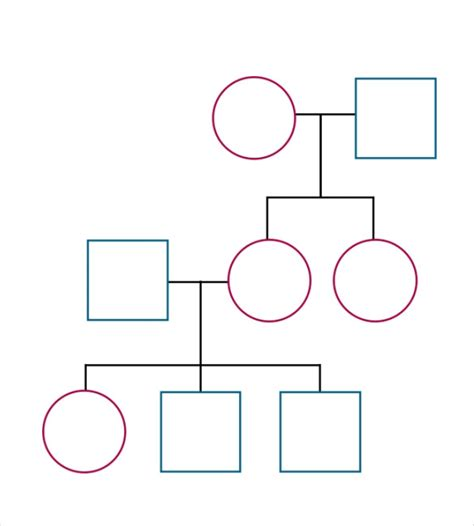 Blank Family Tree Template For by Search Results For Simple Family Tree Template