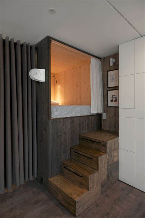 Small Loft In An School by The Designer S Small Studio Apartment Features An