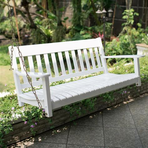 Wooden Porch Swings by Cambridge Casual Thames White Wood Porch Swing Hd 130228