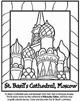 Coloring Cathedral Pages St Moscow Crayola Basil Russia Basils Russian Landmarks Around Sheets Print Colouring Colored Coloringpagesfortoddlers Collection Kremlin Domes sketch template