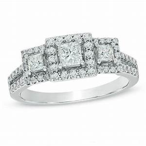 previously owned 1 ct tw princess cut diamond past With previously owned wedding rings zales