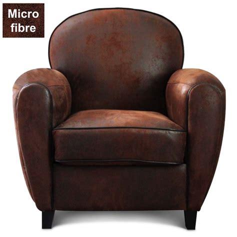 fauteuil cuir vieilli vintage fauteuil club en microfibre effet cro 251 te de cuir demeure et jardin