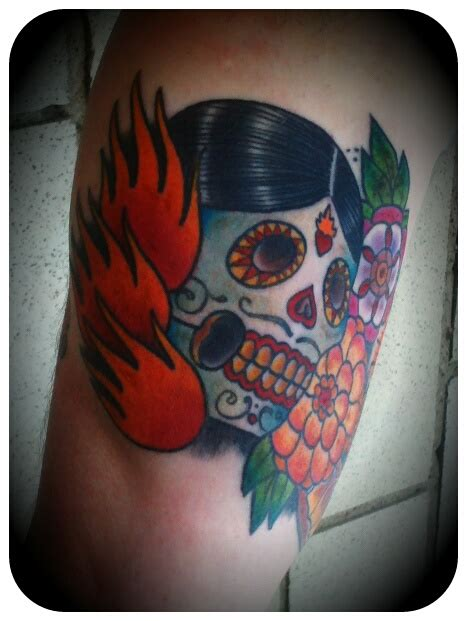 Day Of The Dead Cover Tattoos For Men