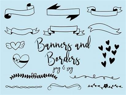 Borders Doodle Clipart Banners Clip Doodles Border