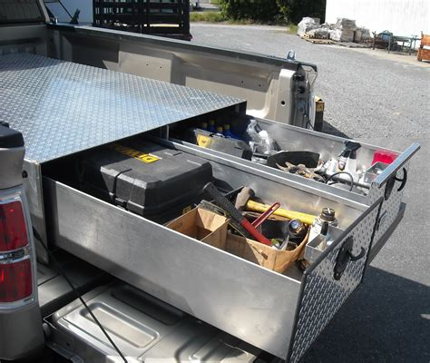 truck bed tool boxes with drawers