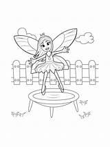 Trampolin Ausmalbilder Malvorlagen Zum Trampoline Kinder sketch template