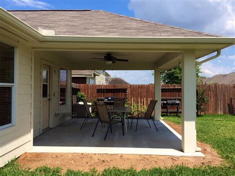 imbrogno hip roof patio cover houston