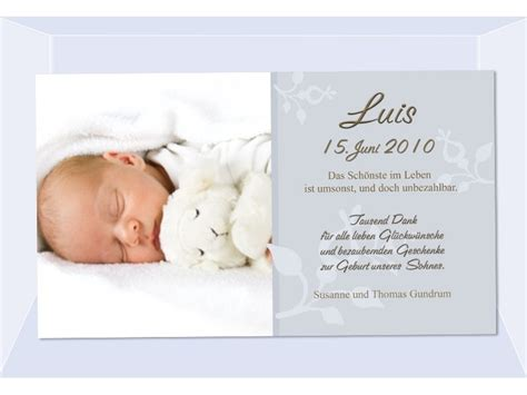 danksagung geburt geburtskarte fotokarte babykarte