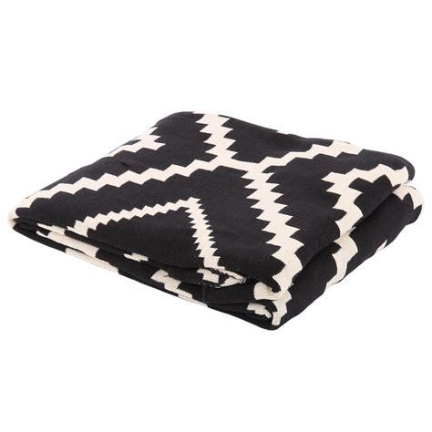 Decke Schwarzweiß, Plaid Weißschwarz, Größe 55 X 55 Cm