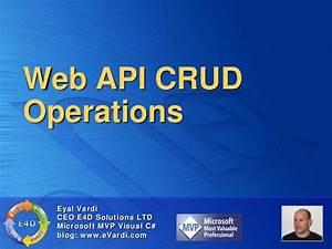 Web api crud operations