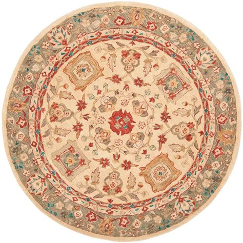 4 Area Rugs by Safavieh Anatolia Beige Green 4 Ft X 4 Ft Area Rug