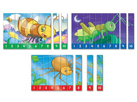 sequencing numbers   puzzles set    lakeshore