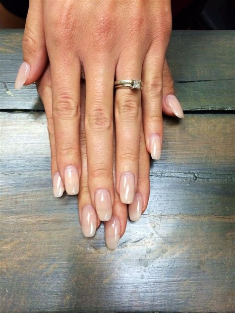 natural looking oval acrylic nails - Google Search | Oval