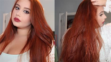 dye  hair copper red  medium dark brown