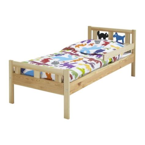 kritter bed frame with slatted bed base pine ikea