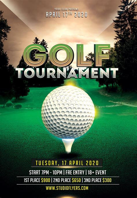 Golf Game Free PSD Flyer Template | Free psd flyer, Free ...