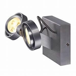 Projecteur Exterieur Double : spot led double en alu bross lampe avenue ~ Edinachiropracticcenter.com Idées de Décoration