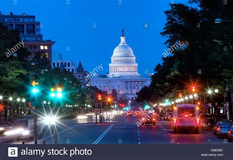 Washington Dc Background Pennsylvania Avenue And Capitol Building In The Background