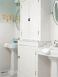 White beadboard bathroom design ideas for Bead board in bathroom