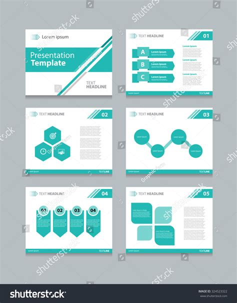 slide presentation template business presentation template slide design graphs stock vector 324523322