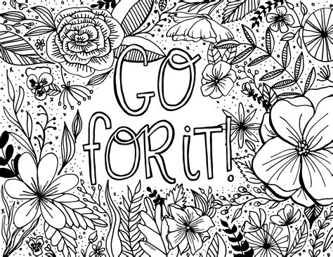 Free Encouragement Coloring Page Printable
