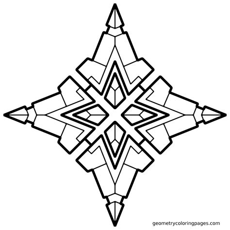geometry coloring page quad star adult coloring pages