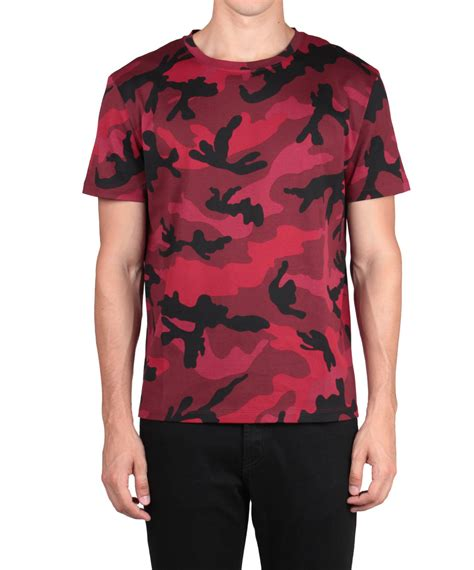 valentino t shirt valentino camouflage printed cotton t shirt in multicolor for lyst