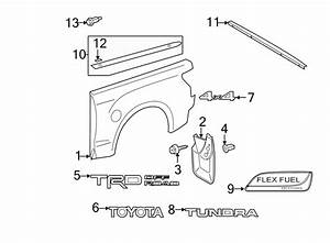 2011 Toyota Tundra Truck Bed Molding  Rear  Lower