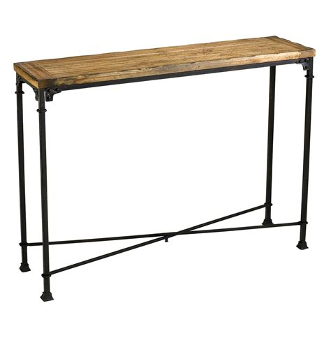 wood metal console table cunningham reclaimed wood industrial loft style modern