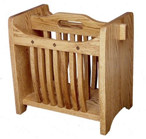 wood woodworking plans magazine rack  plans