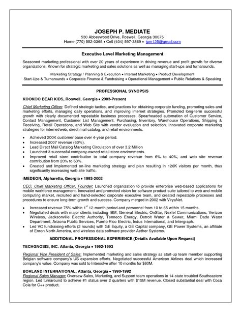 Resume Cio Exle by Chief Executive Officer Resume Sle Sales Officer Lewesmr