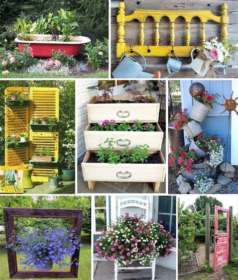 Décoration De Jardin En Objets De Récup'