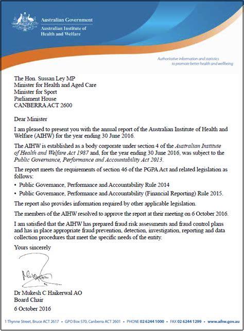 Annual report 2015–16, Letter of transmittal - Australian ...