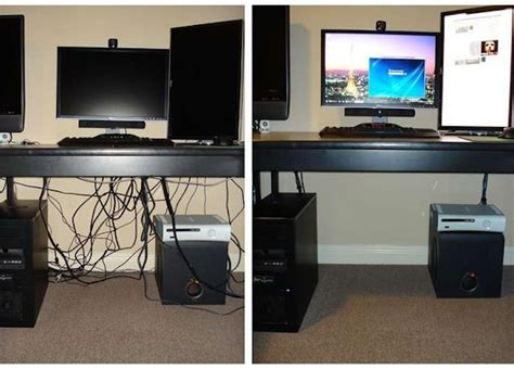desk cable management ideas 8 neat ways to hide or make due with wires room bath