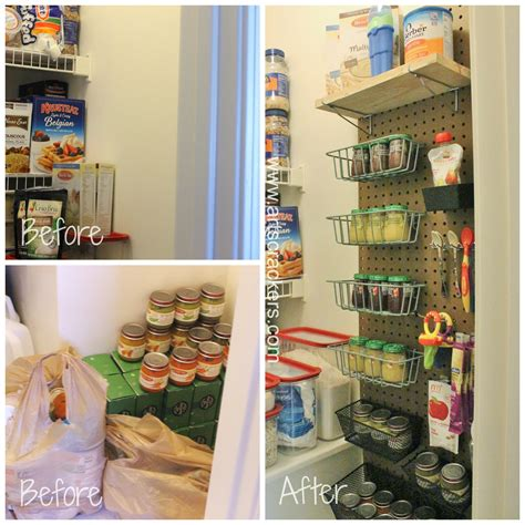 arts and crafts kitchen cabinets diy pegboard pantry organizer