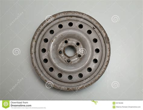 Old Car Wheels Stock Photo. Image Of Spare, Auto, Gray