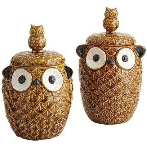 Owl Canisters For The Kitchen by 1000 Images About Canisters On Vintage