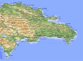 Dominican Republic Map with Cities