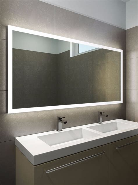 Heated Bathroom Mirrors With Lights by Halo Wide Led Light Bathroom Mirror 1419h Illuminated