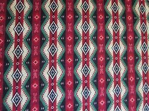 Navajo Diamond Tradional Native American Burgandy Cotton ...