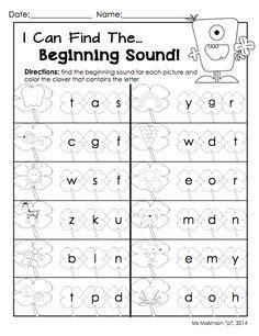 printable beginning sounds worksheets google search