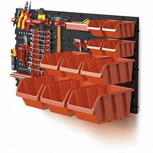 Rangement Outils Garage : kit de rangement mural d 39 outils et de boites feu vert ~ Melissatoandfro.com Idées de Décoration